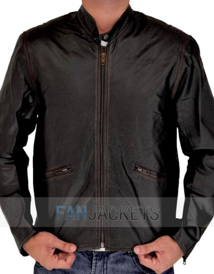 Tron Legacy Leather Jacket Brown