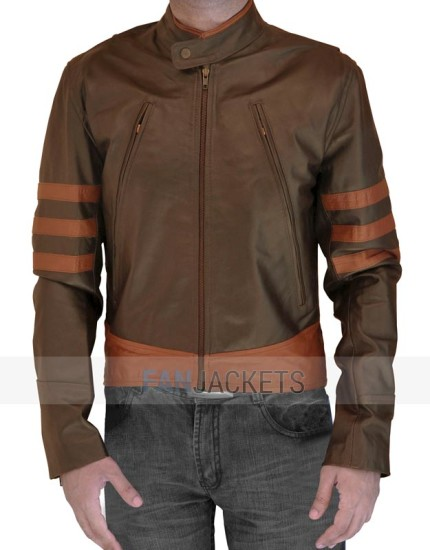 X Men Origins Wolverine Leather jacket brown
