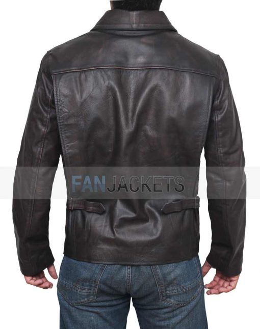 black leather jacket men indiana