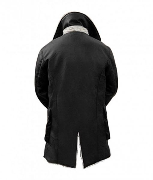 black shearling leather coat bane