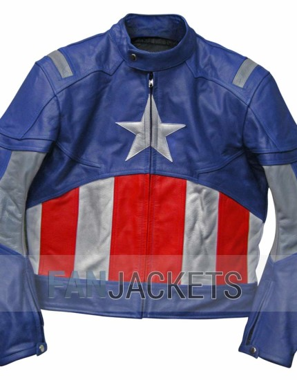 capitan america Leather jacket