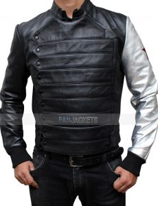 bucky winter soldier leather jacket