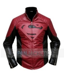 Superman-Smallville-Jacket-Black-and-Maroon-420x540