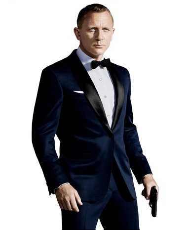 James Bond Midnight Blue Skyfall Tuxedo Suit
