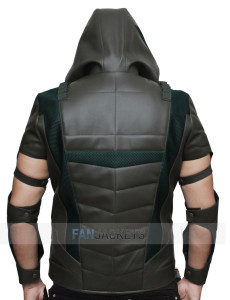 arrow hooded vest