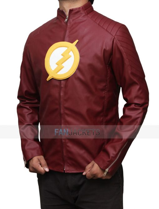 the flash red jacket