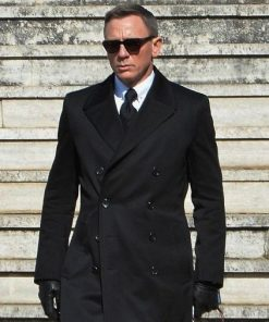 James Bond Double Breasted Black Coat