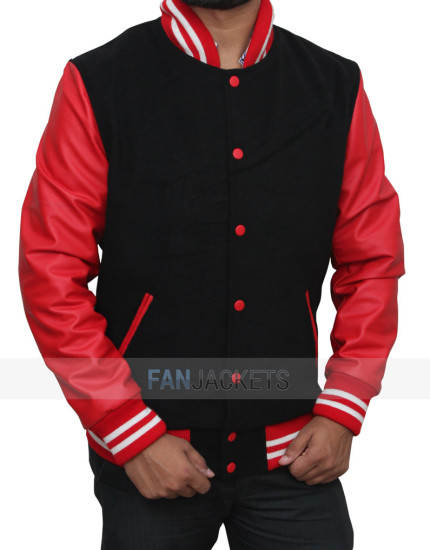 Red And Black Varsity Jacket