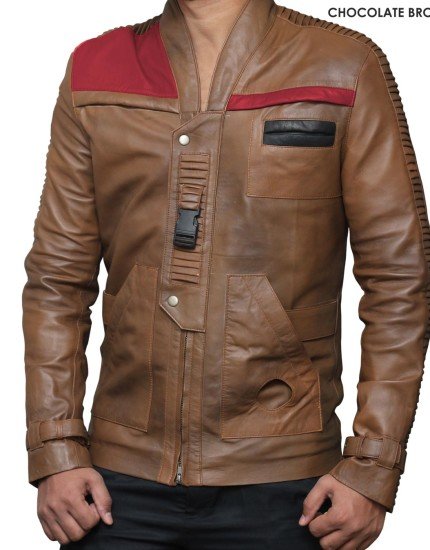 Star-Wars-Fin-Chocolate-Brown-Leather-Jacket