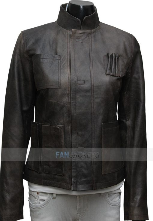 Women Han Solo Leather Jacket