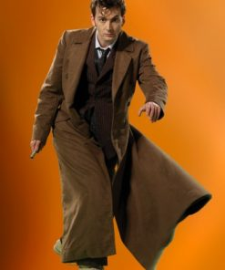 Ten Long Coat Trench Coat Cosplay Costume NEW 10th Doctor Who Dr BEST SALE