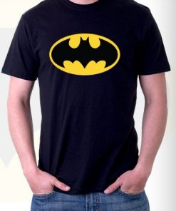 Black Batman Logo T Shirt