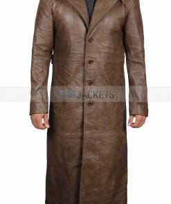 Batman Long Brown Leather Coat