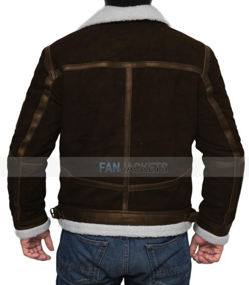 Power Brown Leather Jacket