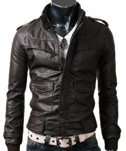 Slim Black Leather Jacket