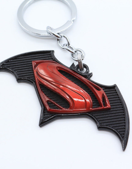 Batman V Superman Red and Black Key Chain