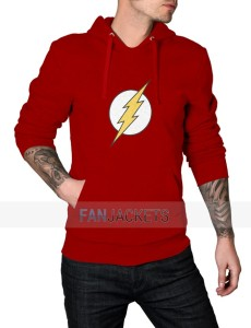 Red The Flash Logo Hoodie