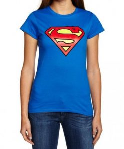 Women Blue Superman T-Shirt