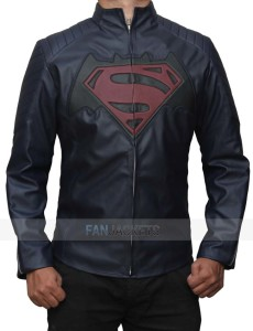 Batman V Superman Blue Leather Jacket