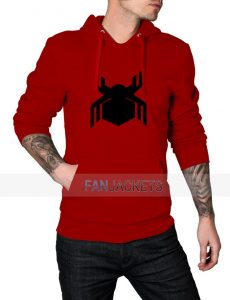 Civil War Spiderman Logo Red Hoodie