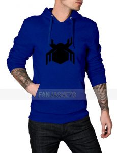 Spiderman Civil War Logo Blue Hoodie