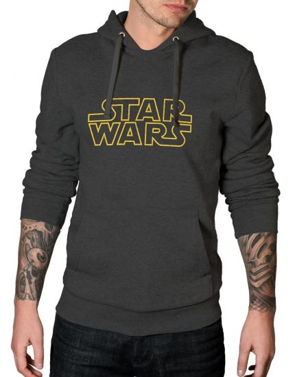 Star Wars Logo Charcoal Grey Hoodie