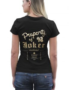 Suicide Squad Property Of Joker Logo Black T-Shirt