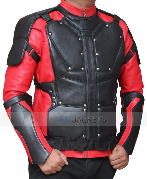 suicide squad red and black jacket