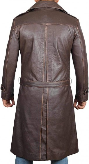 watchmen coat real leather