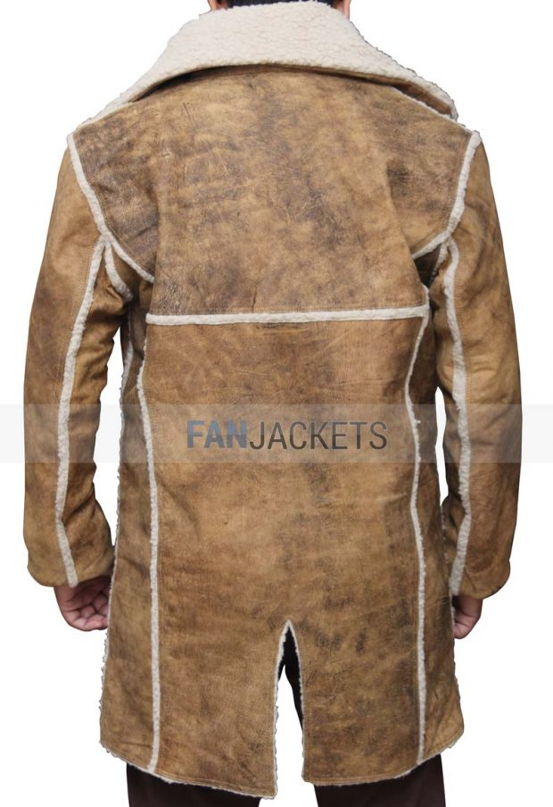 Hell on Wheels Real Leather Shearling Coat