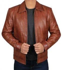 JohnWick reeves leather jacket men