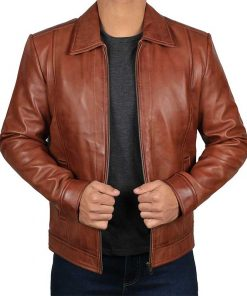 JohnWick reeves leather jacket men