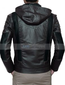 hooded arrow jacket