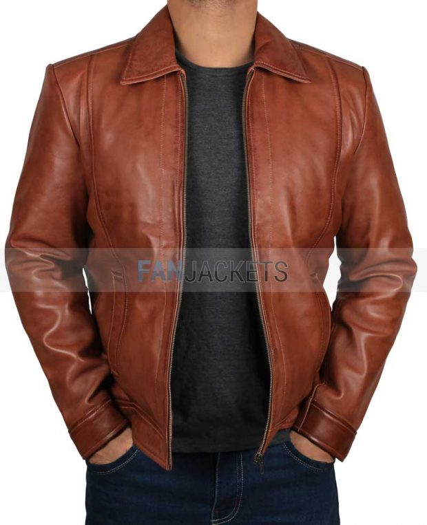 real leather mens brown leather jacket