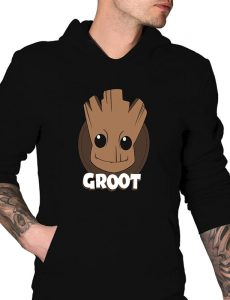 Groot Guradians Of The Galaxy Pullover Hoodie