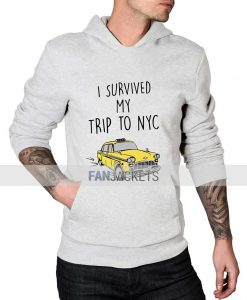 I Survived My Trip To Nyc White Hoodie