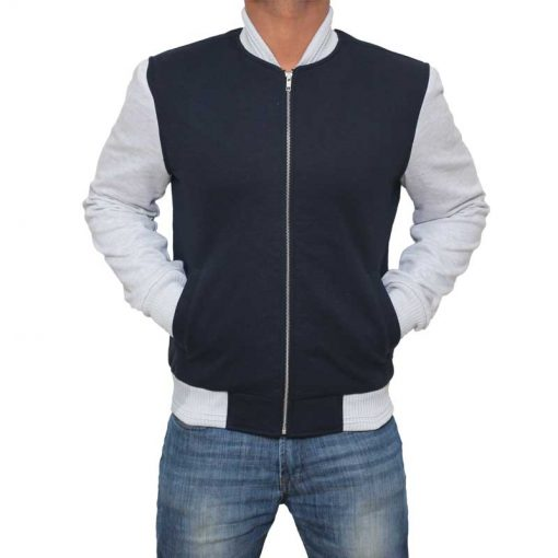 Blue And White Letterman Jacket