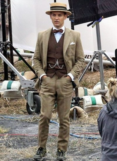 Tobey Maguire The Great Gatsby Brown Suit