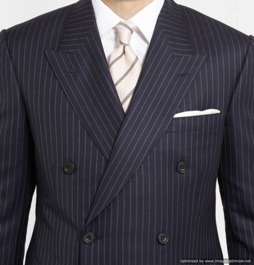Tary Egarton Blue Duble Breasted Suit