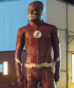 Flash Season 4 Grant Gustin Leather Jacket