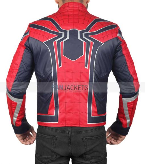 Infinity War Red and Blue Spiderman Jacket