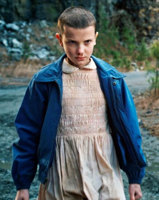Stranger Things Eleven Blue Cotton Jacket
