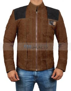 Han Solo Brown Suede Leather Jacket for men