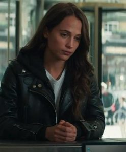 Tom Raider Alicia Vikander Leather Jacket