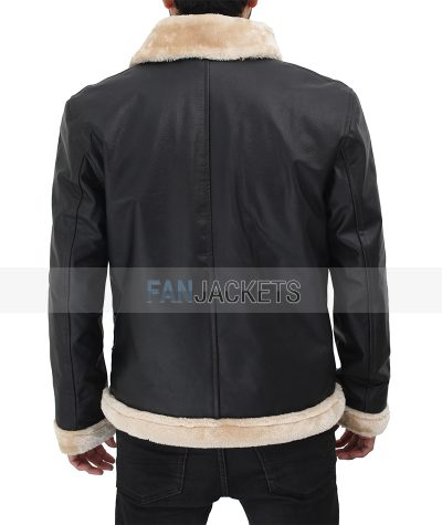 lambskin shearling leather jacket men
