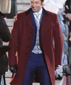 Hugh Jackman Red Coat