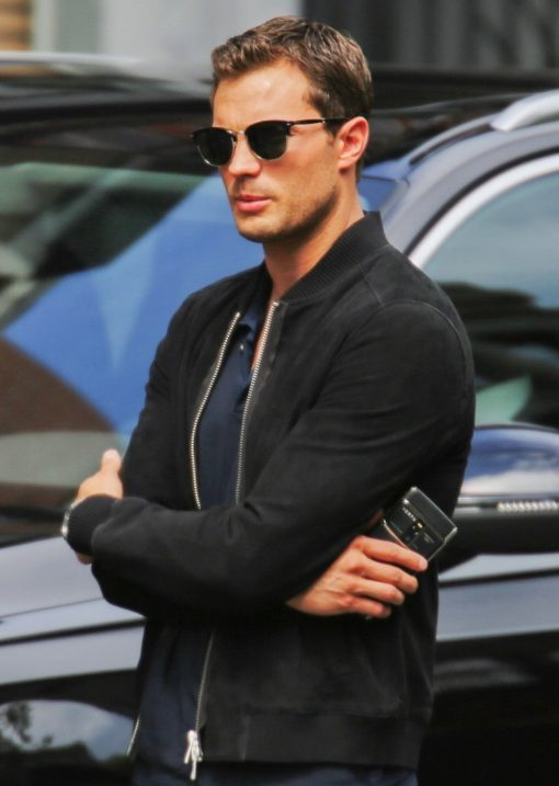 Fifty Shades Freed Jamie Dornan Black Varsity Jacket