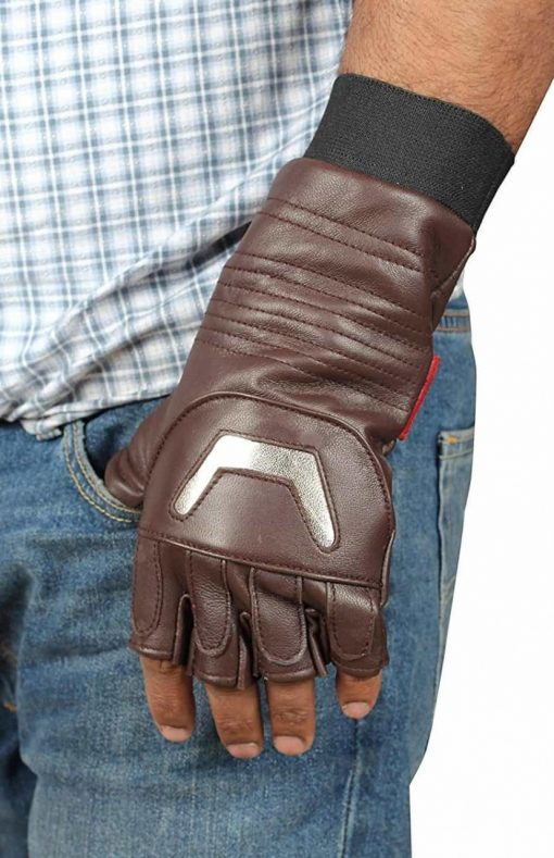 Avengers Infinity War Captain America Leather Gloves