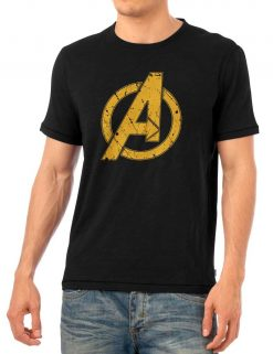 Infinity War Avengers Yellow Logo Shirt