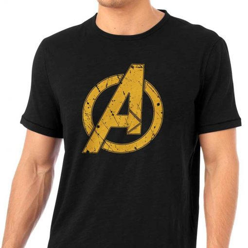 Infinity War Avengers Yellow Logo T Shirt